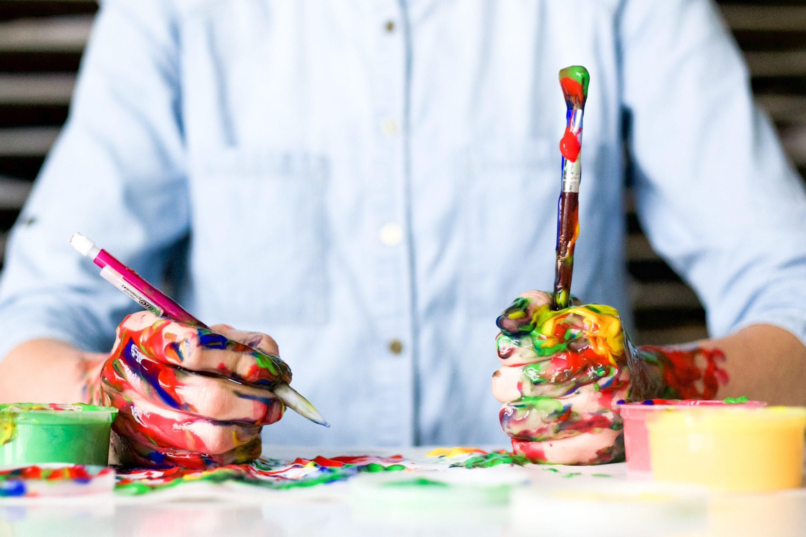 crayon et peinture
